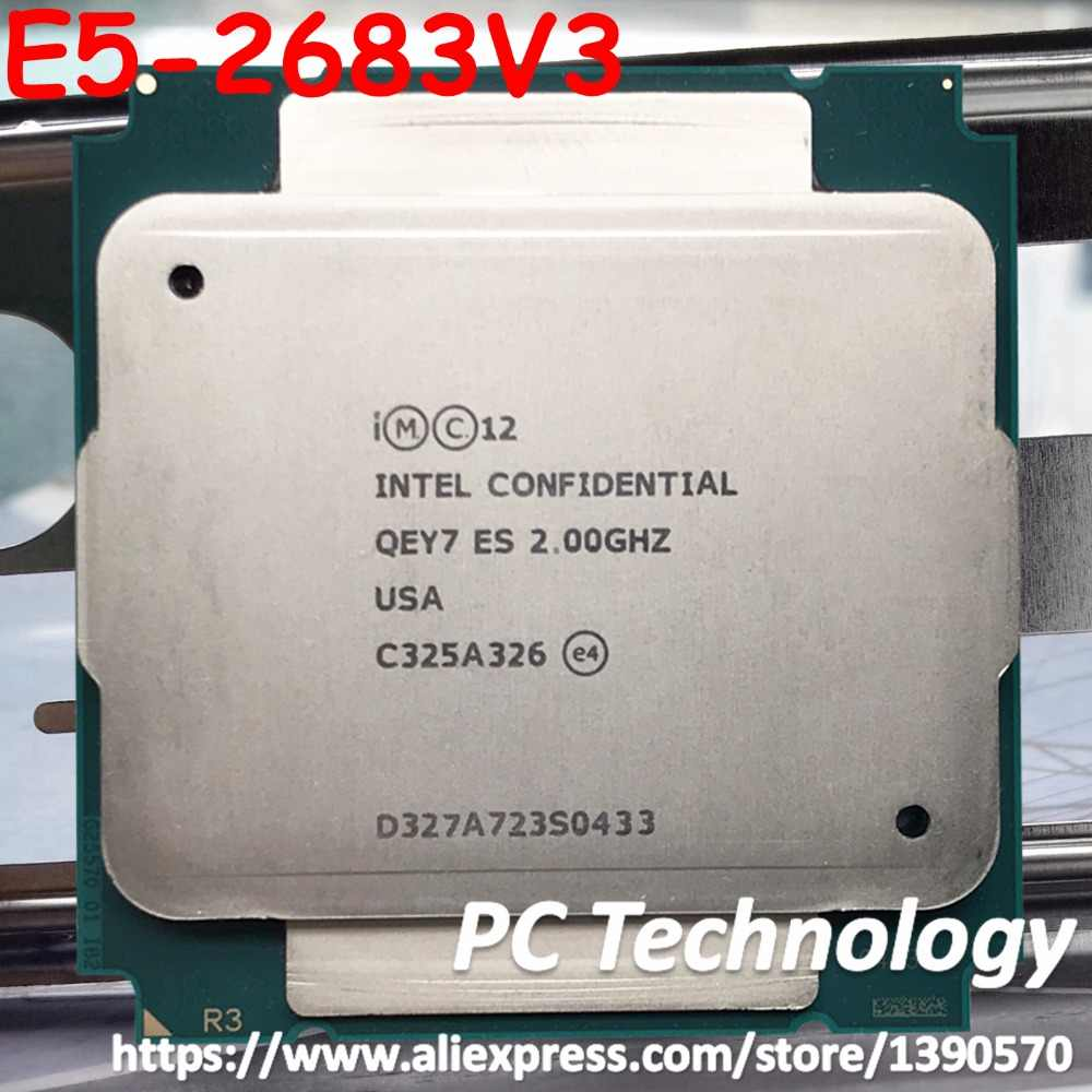Original Intel Processor E5 V3 E5-2683V3 ES version E5 2683V3 QEY7 2.0GHz CPU 14-Cores free shipping E5-2683 V3