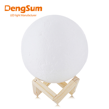 [DENGSUM]Rechargeable 3D Print Moon Lamp 2 Color Change Touch Switch Bedroom Bookcase Night Light Home Decor Creative Gift dropship 3d print moon lamp 20cm 18cm 15cm colorful change touch usb led night light home decor creative gift