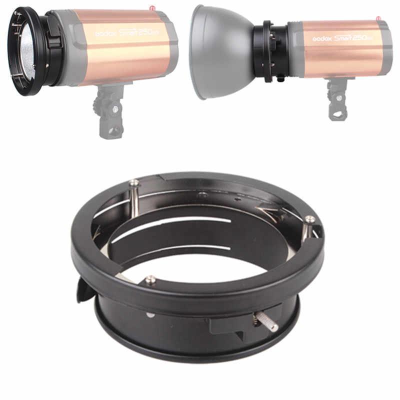 100% Оригинальный Godox Универсальный мини-98 мм крепления вспышки Bowens крепление кольца-адаптеры для студийной стробоскопической Godox 160W 250W 300W