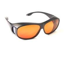 O.D 7   CE сертифицировано лазерной защитные очки для синие и зеленые лазеры высоких прозрачных линз и большая черная рамка черная сумка