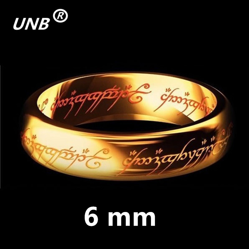 2017 One Gold Silver Black Plated the Lord of Rings Women Men Finger Wedding Brand Fashion Jewelry Accessory Wholesale Drop Ship