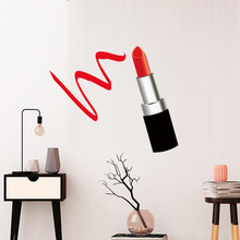 Fashion Lady Lipstick DIY Color Wall Stickers For Living Room Bedroom Decor Gifts Art Decals Wallpaper Home