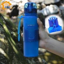 Tapa de Rosca A Prueba de Fugas de Silicona plegable Botella de Agua BPA, deporte Botella de Agua Ciclismo Camping Taza a prueba de Fugas Portátil de Viaje