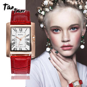 TIke Toker,Watch Women Brand Elegant Retro Watches Fashion Ladies Quartz Watches Clock Women Casual Leather Women's Wristwatch 7