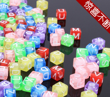 200pcs 6*7mm Square Acrylic alphabet A-Z Spacer Loose Beads For Necklace Bracelet Letter Beads Charms bisuteria Jewelry Making