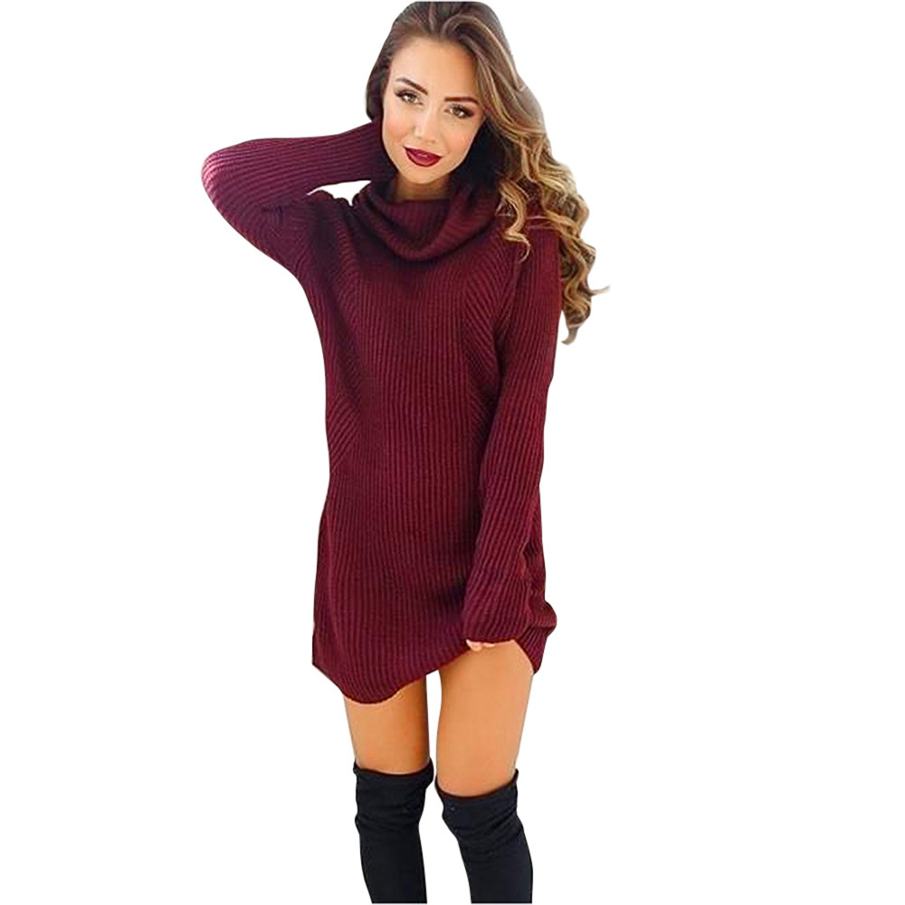 Popular Red Turtleneck Sweater Dress-Buy Cheap Red Turtleneck Sweater Dress Lots From China Red ...