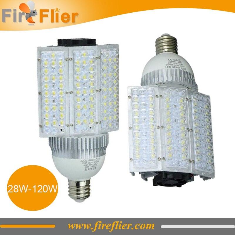 Free Shipping 4pcs e26 e27 e39 e40 led street light 30w 40w 60w 80w 100w 120w street lamp e40 garden yard light 110v 120v 277v