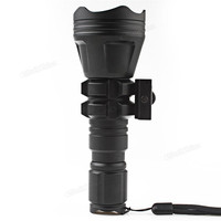 Torches B158 Convex Lens Zoom Flashlight LED Torch Hunting Light Aluminum Self Defense Tactical Flashlight Red