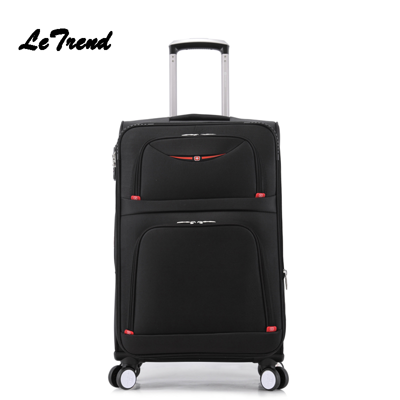 Letrend New Fashion 22 Inch Oxford Men Rolling Luggage Trolley Bag Suitcases Spinner Student Travel Bag Business Password box letrend oxford red rolling luggage suitcases on wheel men business trolley spinner fashion cabin luggage travel bag soft trunk