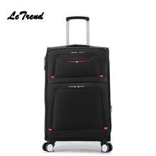 Letrend Новая мода 22 дюймов Оксфорд мужчины прокат багажа сумка тележка чемодана Spinner студент дорожная сумка деловая окно пароля