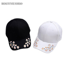 New Hot Fashion Roses Embroidery Men Women Baseball Caps Spring Summer Sun Hats For Women Solid Snapback Cap Wholesale Dad Hat trendy cartoon sun embroidery solid color baseball hat for women