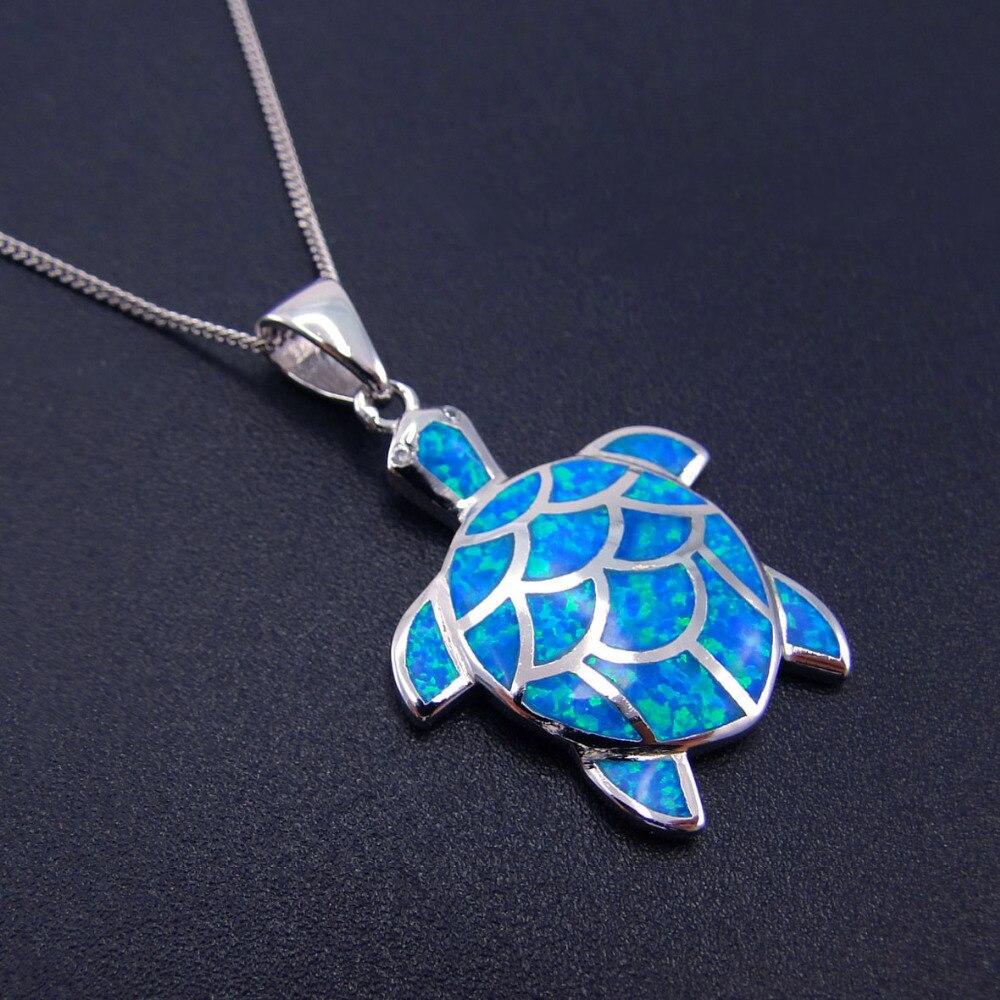 Venda quente azul fogo opala pingente sea