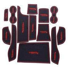 13 шт. Лот обивки салона автомобиля для Chery 16 Tiggo 3 резиновый коврик автомобильные аксессуары нескользящей мат авто аксессуары для интерьера