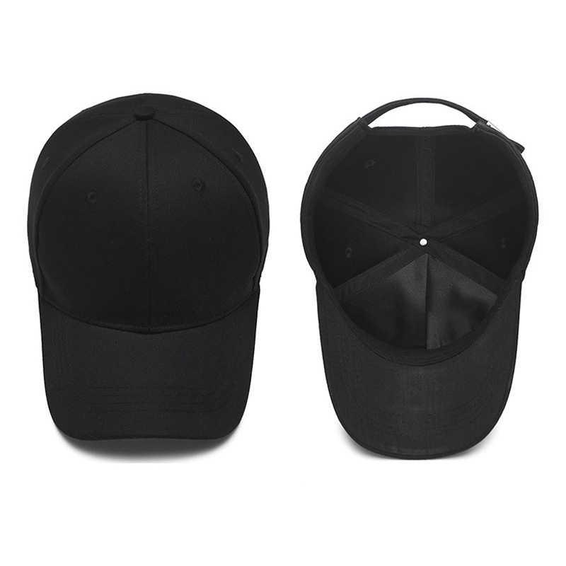 2019 黒キャップ無地野球キャップスナップバックキャスケット帽子フィットカジュアル Gorras ヒップホップお父さん帽子男性用女性ユニセックス