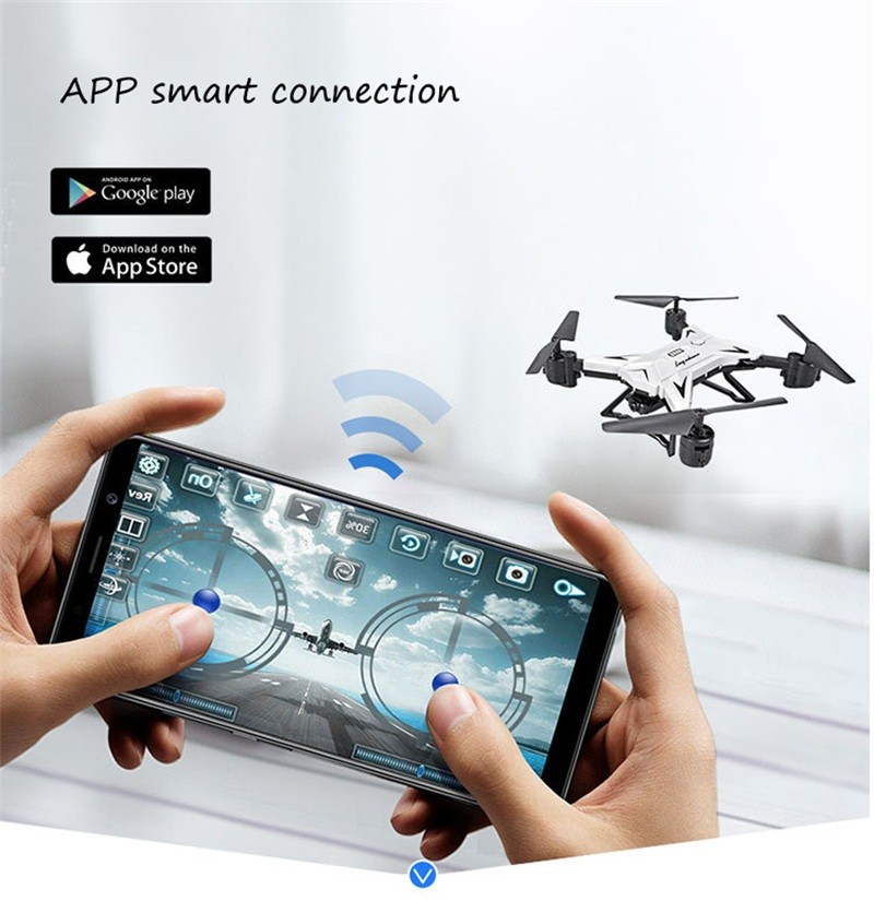 RC Helicopter Drone with Camera HD 1080P WIFI FPV Selfie Drone Professional Foldable Quadcopter  Minutes Battery Life 8