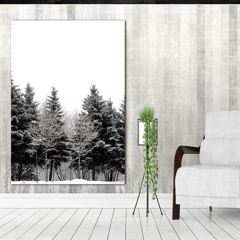 Wall-Pictures-Canvas-Painting-Prints-on-Scandinavian-Nordic-Abstract-Art-Winter-Snow-Forest-Trees-Decoration-Pictures (2)