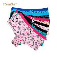 e98c5f500 YOUREGINA Womens Boxers Underwear Sexy Ladies Panties Boyshorts Letter  Print Cotton Shorts Underpants Woman Panty 6pcs lot