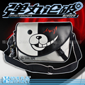 Unisex Anime Japanes Dangan Ronpa Monokuma Canvas Black&Gray Messenger Shoulder Bag Cartoon Trend Cross-body