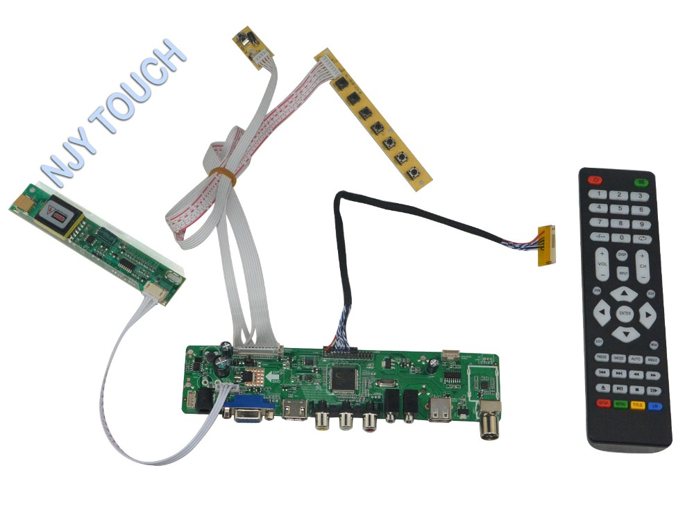 HDMI USB AV VGA ATV LCD LVDS Controller Board DIY Kit for B154EW04 V.2 1280x800 LCD Panel