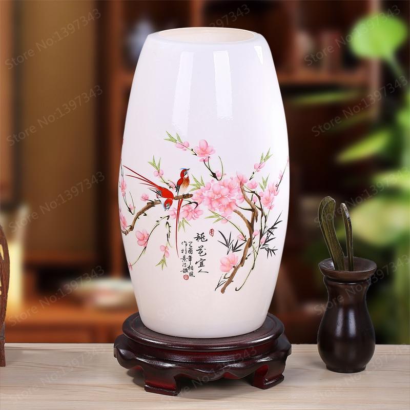 Modern Chinese Porcelain Table Lamps Fashion Bedroom Bedside Lamp E27 110V-220V Holder Ceramic Reading Desk Lights TLL-432