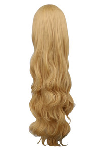 Image 3 - QQXCAIW Women Girls Long Wavy Cosplay Blonde 100 Cm Super Long Heat Resistant Synthetic Hair Wigs