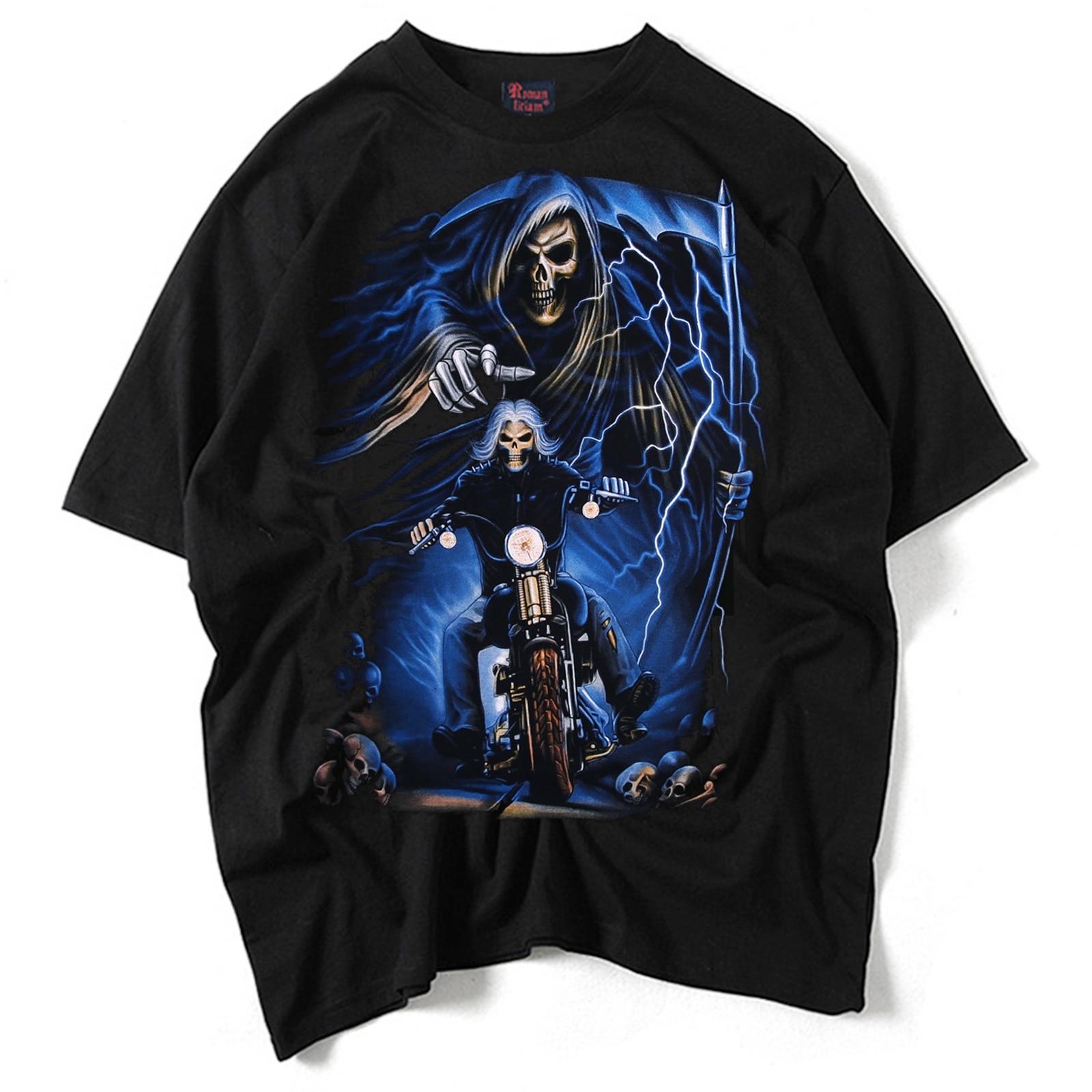 RL 2019 여름 인간의 3D 인쇄 티셔츠 맨 최고 품질의 검은 색 오 - 넥 반팔 XXL 순수 코튼 남성 의류 MT