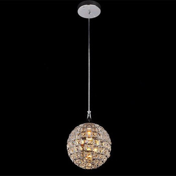Modern round ball Iron Chandelier diameter 20CM E14 led lamps simple crystal Chandeliers led lustre chandelier lighting