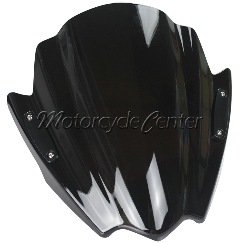 Street Bikes Wind Deflectors Windshield Windscreen For 2004-2015 Kawasaki Z1000 Z750 Z 1000 750 Z750R Dark Smoke 06 08 09 14 15 motorcycle street bikes wind deflectors windshield windscreen for 2006 2014 yamaha fz1 fz1n fz6 s2 fz8 fz 6 8 dark smoke 08 12
