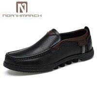 NORTHMARCH/большие размеры; Мужская обувь из натуральной кожи; Модная брендовая Повседневная обувь; мужские слипоны; удобные мужские лоферы; Мок