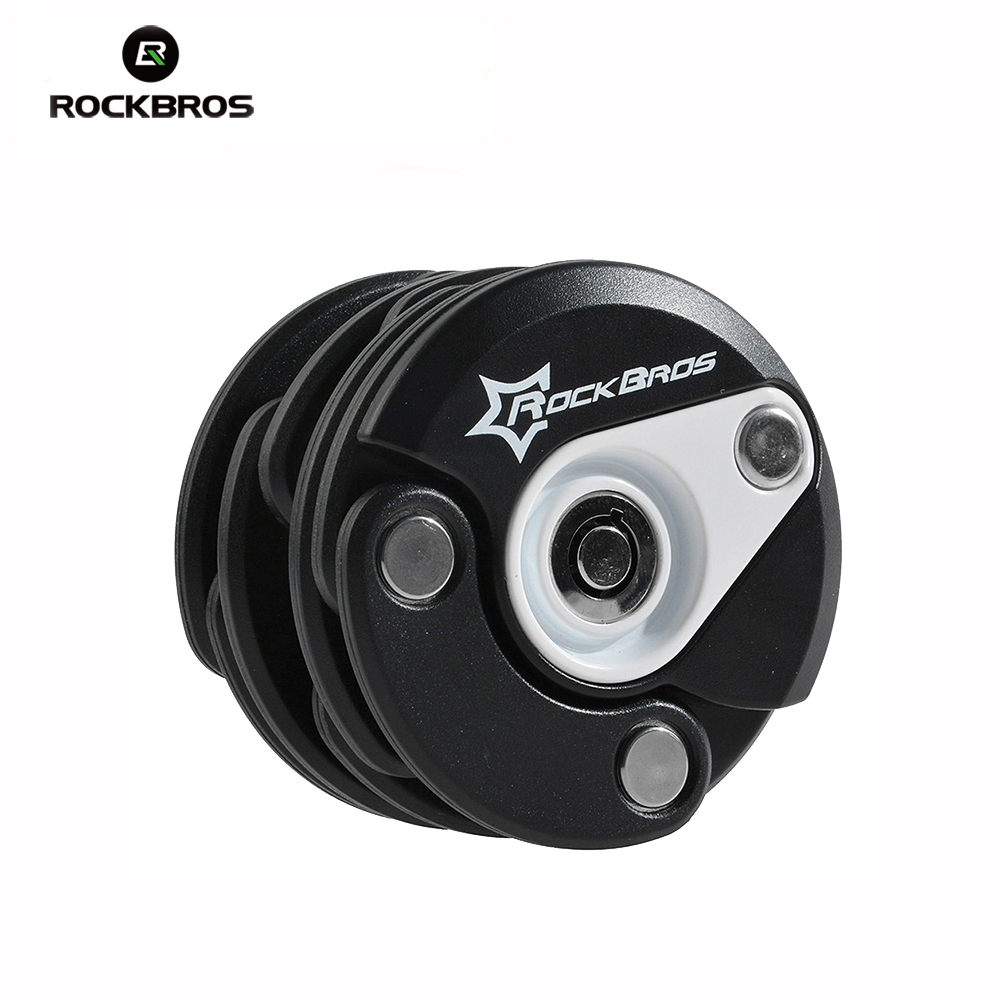ROCKBROS Bike Anti Theft Mini Foldable Chain Lock Folding-locks Bicycle Cycling Locks Bisiklet Aksesuar Candado Bicicleta цена