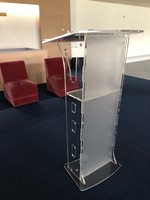 clean acrylic rostrum/The report table/School/meeting rostrum pulpit furniture acrylic lectern