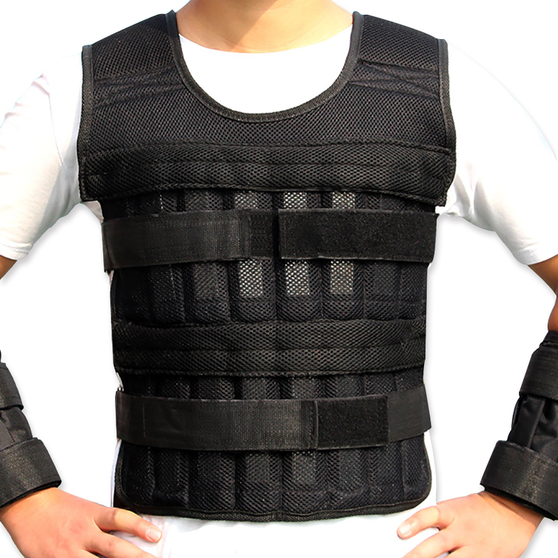 35kg/77lbs Empty Weight Vest Boxing Training Adjustable Shank Wrist Wraps Running Exercise Crossfit Swat Loading Weight Vest