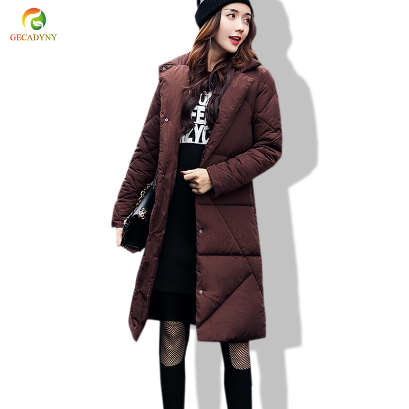 Women Winter Coat Jacket Warm Woman Parkas Female Overcoat High Quality Pure Color Cotton Coat New Long Thick Parkas Female women winter coat jacket warm woman parkas big fur collar female overcoat high quality thick cotton coat 2017 new winter parka