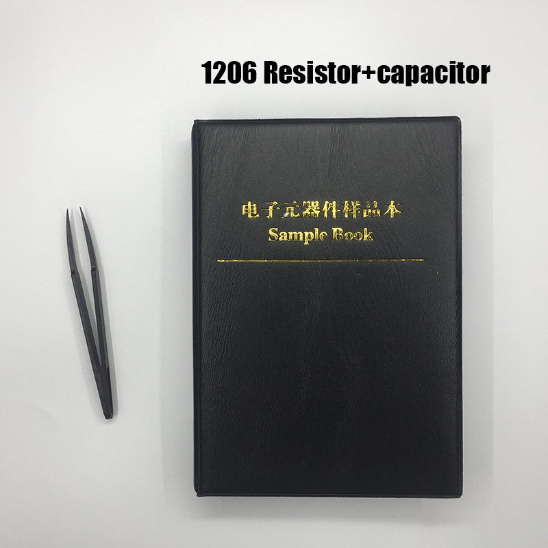 4250pc 1% 1206 smd resistor kit + 2000pc capacitor assortment sample book for resistor book capacitor resistor pack image