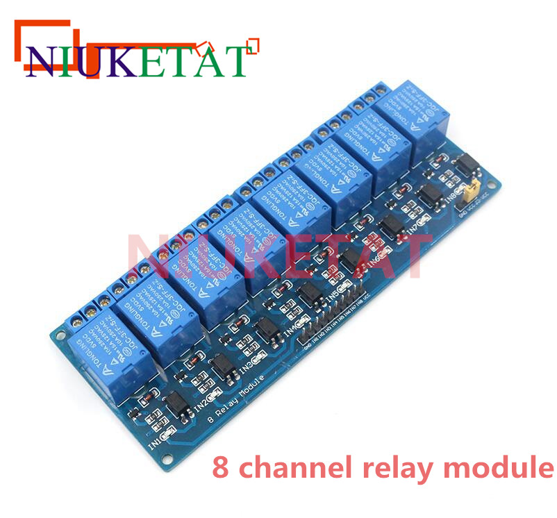 8-Channel Relay DC5V with light coupling protection expansion board have a single way 8 road relay module DC 5v For Arduino 5v 2 channel ir relay shield expansion board module for arduino with infrared remote controller