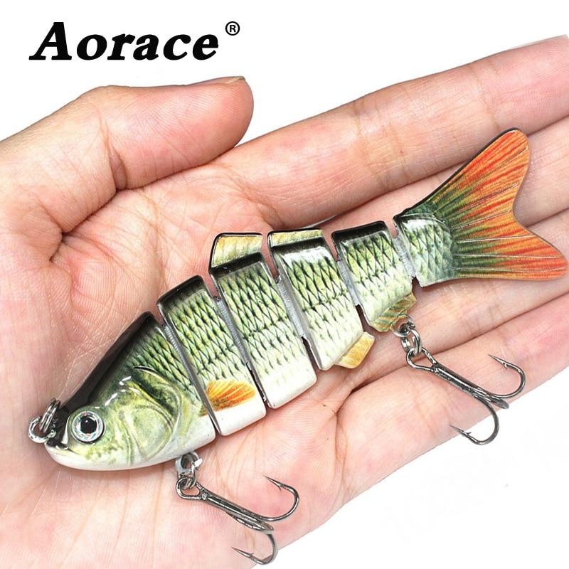 Fishing wobbler Lifelike  6 Segment Swimbait Crankbait Hard Bait Slow 10cm 17g Isca Artificial Lures Fishing Tackle|Fishing Lures|   - AliExpress