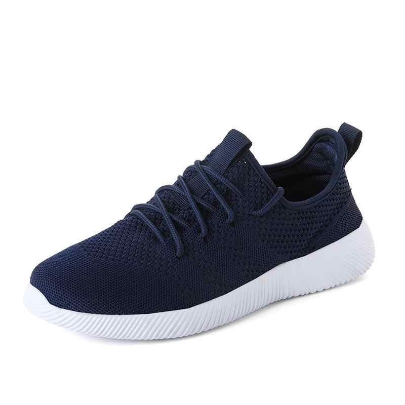 2018 мужская повседневная обувь весенне-Летние черные туфли без каблуков сетчатый дышащий мужской размер 36-45