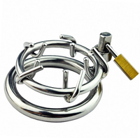 Chastity Locks Stainless Steel Male Chastity Device Cock Cage Chastity Belt Penis Ring Virginity Lock Adult Game Penile lock