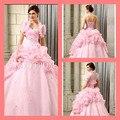 Vestidos quinceanera formal charme bolha Blush até Corset querida rosa com jaquetas de quinceanera
