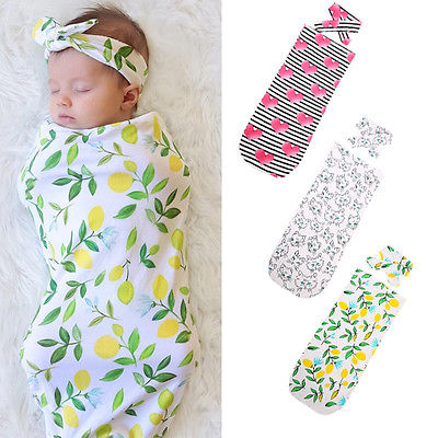 Organic Baby Boys Girls Receiving Blankets Cotton Swaddle Muslin Blanket Headbands  Newborn Baby Wrap Swaddling Blanket 0-12M 341c323e116