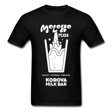 Moloko Korova Milk Bar Jazz Music Top T-shirts for Men Plus A Clockwork O-Neck 100% Cotton Fabric Man Autumn Clothes
