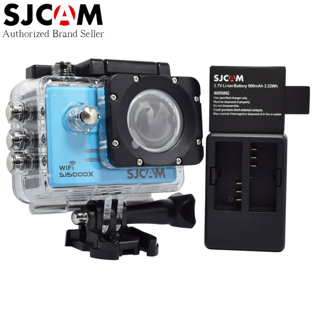 Original SJCAM SJ5000X 4K Elite Gyro Waterproof Sport Camera 1080P Full HD Diving SJ Action Cam with Dual Charger+Extra Battery