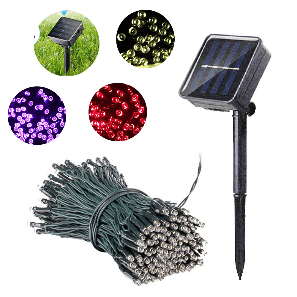 Lawn Lamps LED Garden Lights Chain Waterproof Solar Light For Patio Decoration Holiday Fairy Lamp Lighting String Lampy Ogrodowe