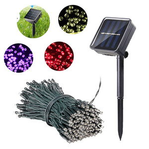 Lawn Lamps LED Garden Lights Chain Waterproof Solar Light For Patio Decoration Holiday Fairy Lamp Lighting String lampy ogrodowe(China)
