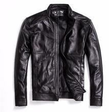 Бесплатная доставка. брендовые Классические мужские куртки из овчины, мужская куртка из натуральной кожи. модное повседневное деловое пальто, мужские большие размеры