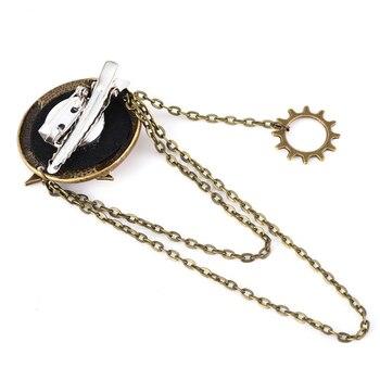 Steampunk Gothic Rock Women Vintage Brooch Bronze Gear Hair Pin Retro Hip Pop Hair Clip Accessories 2
