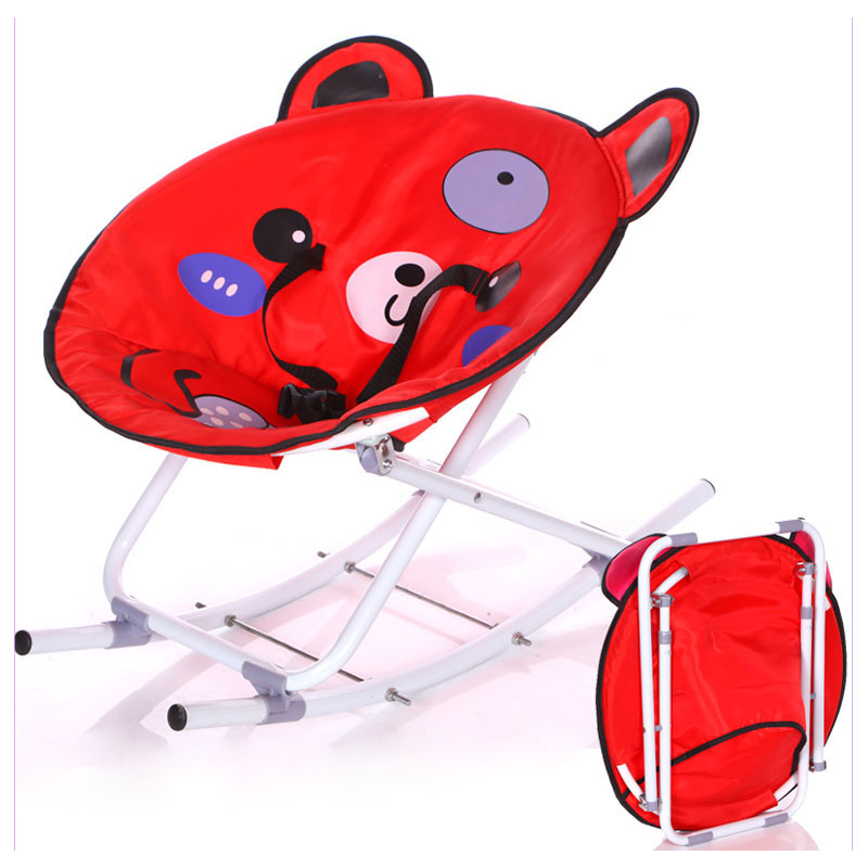 New Baby Rocking Chair Lightweight Folding Rocker Nursery Rocking Chair Infant Seat Bouncer Baby Swing Cradle Recliner Bouncers стоимость