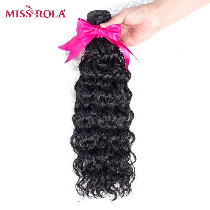 Miss Rola Hair Pre colored Brazilian Hair Water Weave 1Bundles 1b 100 Human Hair Weaving 8