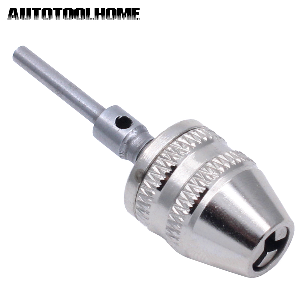 AUTOTOOLHOME Keyless Chuck Drill Quick Change Adapter Driver 3mm Shank Capacity 0-4mm Electric Motor Grinder Accessories