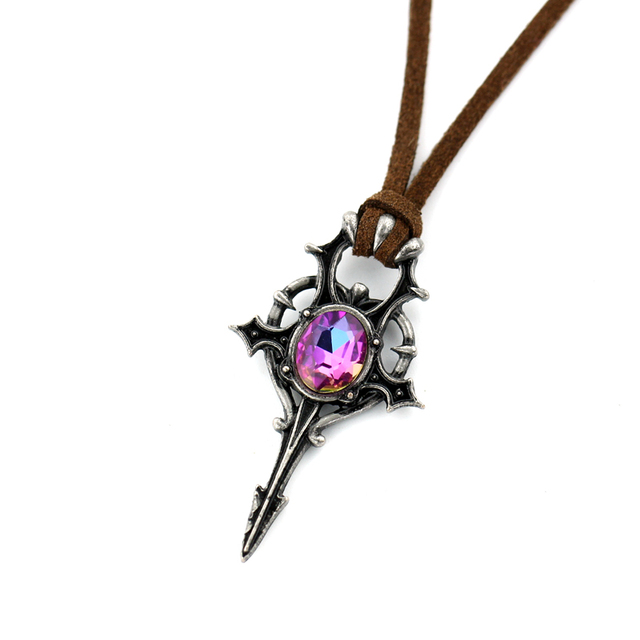Exquisite Antique Crystal Steampunk Pendant Necklace